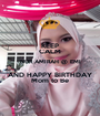 KEEP CALM NUR AMIRAH @ EMI AND HAPPY BIRTHDAY Mom to Be - Personalised Poster A1 size