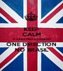 KEEP CALM O CARAMBA EU QUERO ONE DIRECTION NO BRASIL - Personalised Poster A1 size