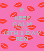 KEEP CALM ON YOUR 15TH B DAY REN - Personalised Poster A1 size