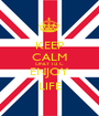 KEEP CALM ONLY 1/2 C ENJOY LIFE - Personalised Poster A1 size