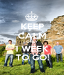 KEEP CALM ONLY 1 WEEK TO GO! - Personalised Poster A1 size