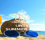 KEEP CALM ONLY 131 DAYS UNTIL SUMMER 2015 - Personalised Poster A1 size