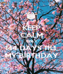 KEEP CALM ONLY 144 DAYS TILL MY BIRTHDAY - Personalised Poster A1 size