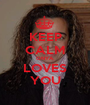 KEEP CALM ONYA LOVES YOU - Personalised Poster A1 size