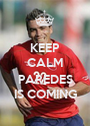 KEEP CALM  PAREDES IS COMING - Personalised Poster A1 size