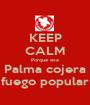 KEEP CALM Porque esa Palma cojera fuego popular - Personalised Poster A1 size