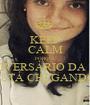 KEEP CALM PORQUE O ANIVERSÁRIO DA MIRA ESTÁ CHEGANDO - Personalised Poster A1 size