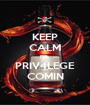 KEEP CALM PPL PRIV4LEGE COMIN - Personalised Poster A1 size