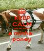 KEEP CALM que eu adoro a minha   poney - Personalised Poster A1 size