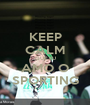 KEEP CALM QUE EU AMO O SPORTING - Personalised Poster A1 size