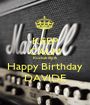 KEEP CALM Rockabilly & Happy Birthday DAVIDE - Personalised Poster A1 size