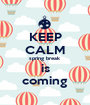 KEEP CALM spring break is coming - Personalised Poster A1 size