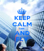 KEEP CALM TAM  AND FLY - Personalised Poster A1 size