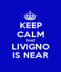 KEEP CALM THAT LIVIGNO IS NEAR - Personalised Poster A1 size