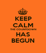KEEP CALM THE COUNTDOWN HAS BEGUN - Personalised Poster A1 size