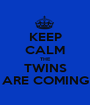 KEEP CALM THE TWINS ARE COMING - Personalised Poster A1 size