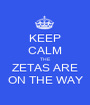 KEEP CALM THE  ZETAS ARE ON THE WAY - Personalised Poster A1 size