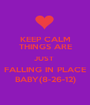 KEEP CALM THINGS ARE JUST  FALLING IN PLACE BABY(8-26-12) - Personalised Poster A1 size
