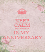 KEEP CALM TOMORROW IS MY  ANNIVERSARY - Personalised Poster A1 size