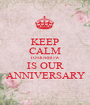 KEEP CALM TOMORROW IS OUR ANNIVERSARY - Personalised Poster A1 size