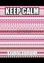 KEEP CALM Tribal tumblr - Personalised Poster A1 size