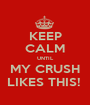 KEEP CALM UNTIL MY CRUSH LIKES THIS!  - Personalised Poster A1 size