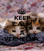 KEEP CALM USE A VERMELHA. - Personalised Poster A1 size