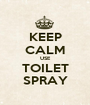 KEEP CALM USE TOILET SPRAY - Personalised Poster A1 size