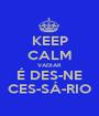 KEEP CALM VADIAR É DES-NE CES-SÁ-RIO - Personalised Poster A1 size