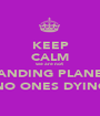 KEEP CALM we are not LANDING PLANES NO ONES DYING - Personalised Poster A1 size