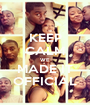 KEEP CALM WE MADE IT OFFICIAL - Personalised Poster A1 size
