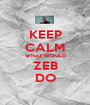 KEEP CALM WHAT WOULD ZEB DO - Personalised Poster A1 size