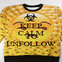 KEEP CALM WHY FOLLOW TO UNFOLLOW - Personalised Poster A1 size