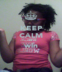 KEEP CALM & win  - Personalised Poster A1 size