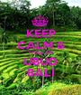KEEP CALM & YOGA ON UBUD BALI - Personalised Poster A1 size
