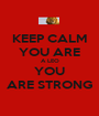 KEEP CALM YOU ARE A LEO YOU ARE STRONG - Personalised Poster A1 size