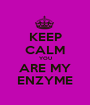 KEEP CALM YOU ARE MY ENZYME - Personalised Poster A1 size