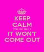 KEEP CALM you can pull it IT WON'T COME OUT - Personalised Poster A1 size