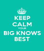 KEEP CALM YOUR BIG KNOWS BEST - Personalised Poster A1 size