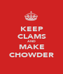KEEP CLAMS AND MAKE CHOWDER - Personalised Poster A1 size
