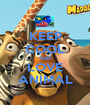 KEEP COOL AND LOVE ANIMAL - Personalised Poster A1 size