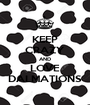 KEEP CRAZY AND LOVE DALMATIONS - Personalised Poster A1 size