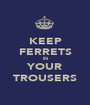 KEEP FERRETS IN YOUR TROUSERS - Personalised Poster A1 size