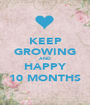 KEEP GROWING AND HAPPY 10 MONTHS - Personalised Poster A1 size