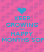 KEEP GROWING AND HAPPY 10 MONTHS SOFIA - Personalised Poster A1 size