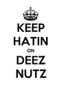 KEEP HATIN ON DEEZ NUTZ - Personalised Poster A1 size