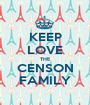 KEEP LOVE THE CENSON FAMILY - Personalised Poster A1 size