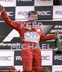 KEEP ON FIGHTING MICHAEL  - Personalised Poster A1 size