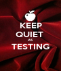 KEEP QUIET  AS TESTING  - Personalised Poster A1 size