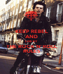 KEEP REBEL AND LIVE BY THE ROCK 'N' ROLL RULES - Personalised Poster A1 size
